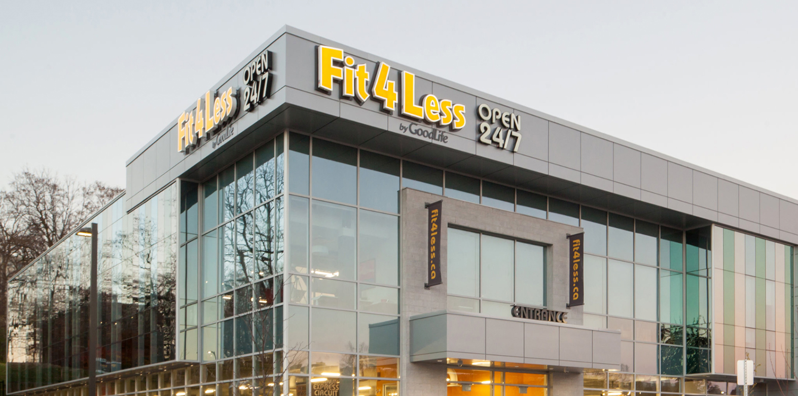 Exterior of a 24/7 Fit4Less Gym
